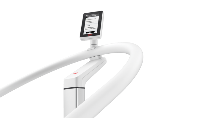 seca Scale-up Line - EMR-validated handrail scale with ID-Display and optional height measurement #1
