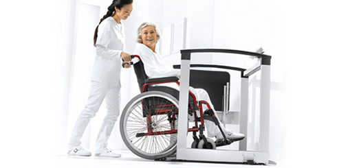 Multifunctional and wheelchair scales