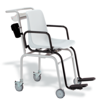 seca 955 - Digital chair scale with swivelling arm and foot rests